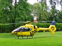ADAC Rescue and Emergency Helicopter Royalty Free Stock Photo