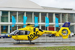 ADAC rescue helicopter in Berlin Stock Image