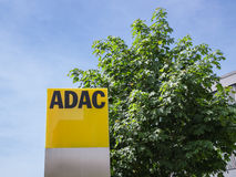 ADAC signage with German automobile club logo Royalty Free Stock Image