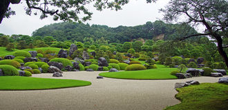 Adachi艺术馆庭院在松江,日本 库存照片