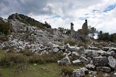 Adada Ruinen. Stockbilder