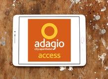 Adagio Stadt Aparthotel-Hotellogo Lizenzfreies Stockfoto