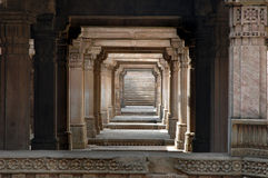 Adalaj Step well-A grand view Royalty Free Stock Photography