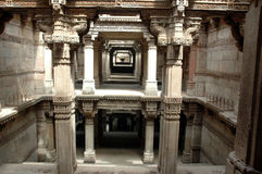 Adalaj Step well-A grand view Stock Photography