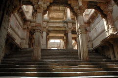 Adalaj Step well-A grand view stock photos