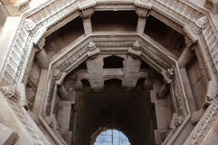 Adalaj Stepp well top view Royalty Free Stock Photos