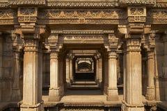 Adalaj Stepwell, Ahmadabad, Gujarat, Índia imagens de stock
