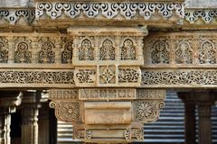 Adalaj Stepwell in Ahmadabad, India. India, Adalaj Stepwell is a Hindu water building in the village of Adalaj, close to Ahmedabad town in the Indian state of Royalty Free Stock Photo