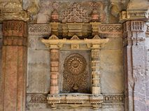 Adalaj Stepwell in Ahmadabad, India. India, Adalaj Stepwell is a Hindu water building in the village of Adalaj, close to Ahmedabad town in the Indian state of Royalty Free Stock Photography