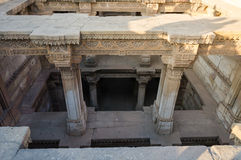 Adalaj Stepwell in Ahmedabad Stockbilder