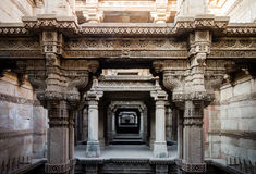 Adalaj Stepwell in Ahmedabad. Gujarat, India Royalty Free Stock Image
