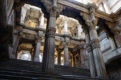 Adalaj Stepwell i Ahmadabad, Indien Arkivfoton