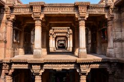 Adalaj stepwell. Or Rudabai Stepwell is a stepwell located in the village of Adalaj, close to Ahmedabad city and in Gandhinagar district in the Indian state of Stock Images
