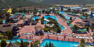 Adaland - Kusadasi, Turkey. Adaland is a waterpark located in Turkey, near Kusadasi, one of the biggest water parks in the Mediterranean area Royalty Free Stock Photos