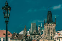 Adalbert of Prague on Charles Bridge, Czechia Stock Photos