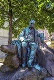 Adalbert Stifter statue in Linz, Austria Stock Photo
