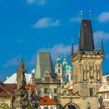 Adalbert von Prag auf Charles Bridge, Czechia Lizenzfreie Stockfotos