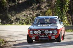 Adalberto Melim drives a Alfa Romeo 2000 GT Stock Image