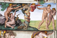 Adam και παραμονή, παρεκκλησι Sistine στοκ φωτογραφία με δικαίωμα ελεύθερης χρήσης
