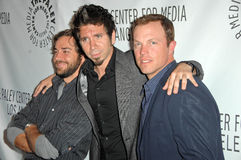Adam Baldwin,Joshua Gomez,Zachary Levi Stock Photos