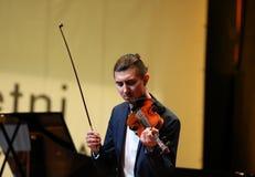 Adam Baldych - polnischer Violinist Stockbild