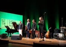 Adam Baldych - polnischer Violinist, der Live-Musik am Sommer Jazz Festival in Krakau spielt Stockfoto