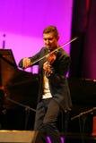 Adam Baldych - polnischer Violinist, der Live-Musik am Sommer Jazz Festival in Krakau spielt Lizenzfreie Stockbilder