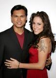Adam Beach und Tara Mason Lizenzfreies Stockbild