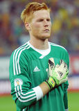 Adam Bogdan in Romania-Hungary World Cup Qualifier Game Stock Images