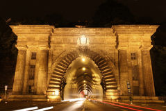 Adam Clark Tunnel in Budapest, Hungary Royalty Free Stock Images