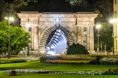 Adam Clark-Tunnel in Budapest, Ungarn stockfotos