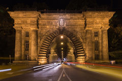 Adam Clark Tunnel under Castle Hill. It provides easy access to places in Buda. Stock Photography