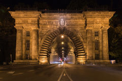 Adam Clark Tunnel unter Schloss-Hügel Lizenzfreie Stockfotografie