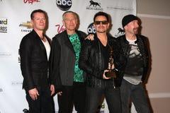 Adam Clayton, Bono, Rand, Larry Mullen, jr. Larry-Mullen, Larry Mullen, jr., der Rand, U 2, U2 Lizenzfreie Stockfotografie