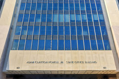 Adam Clayton Powell State Office Building - NYC. Adam Clayton Powell, Jr. State Office Building in New York. Adam Clayton Powell, Jr. was an American politician Stock Photography