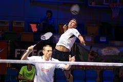 Adam Cwalina und Przemyslaw Wacha - Badminton Lizenzfreies Stockbild