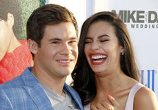 Adam DeVine and Chloe Bridges Stock Photos