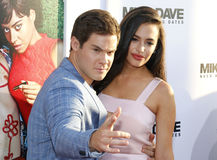Adam DeVine and Chloe Bridges Stock Images