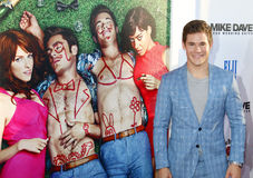 Adam DeVine. At the Los Angeles premiere of 'Mike And Dave Need Wedding Dates' held at the ArcLight Cinemas in Hollywood, USA on June 29, 2016 Stock Image