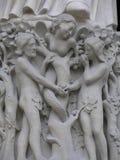 Adam e véspera, catedral de Notre Dame, Paris, França Foto de Stock Royalty Free