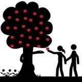 Adam en Eva stock illustratie