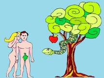 Adam en vooravond royalty-vrije illustratie