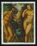 Adam en Vooravond door Rubens stock fotografie