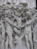 Adam en Vooravond, Kathedraal van Notre Dame, Parijs, Frankrijk Royalty-vrije Stock Foto