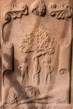 Adam et Ève dans l'abbaye de Dryburgh Images stock