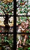 Adam et Ève expulsés du paradis Images libres de droits