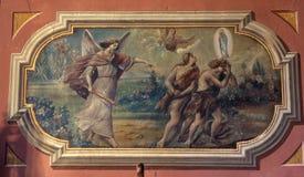 Adam et Ève, l'expulsion du paradis images stock