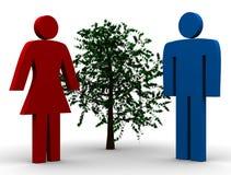 Adam et Eve illustration de vecteur