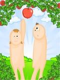 Adam et Eve illustration stock