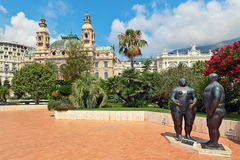 Adam et Eve sculpture in Monte Carlo. Royalty Free Stock Images